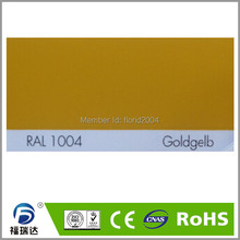 Order color according to clients for UV- resistant RAL1004 golden yellow color(China)