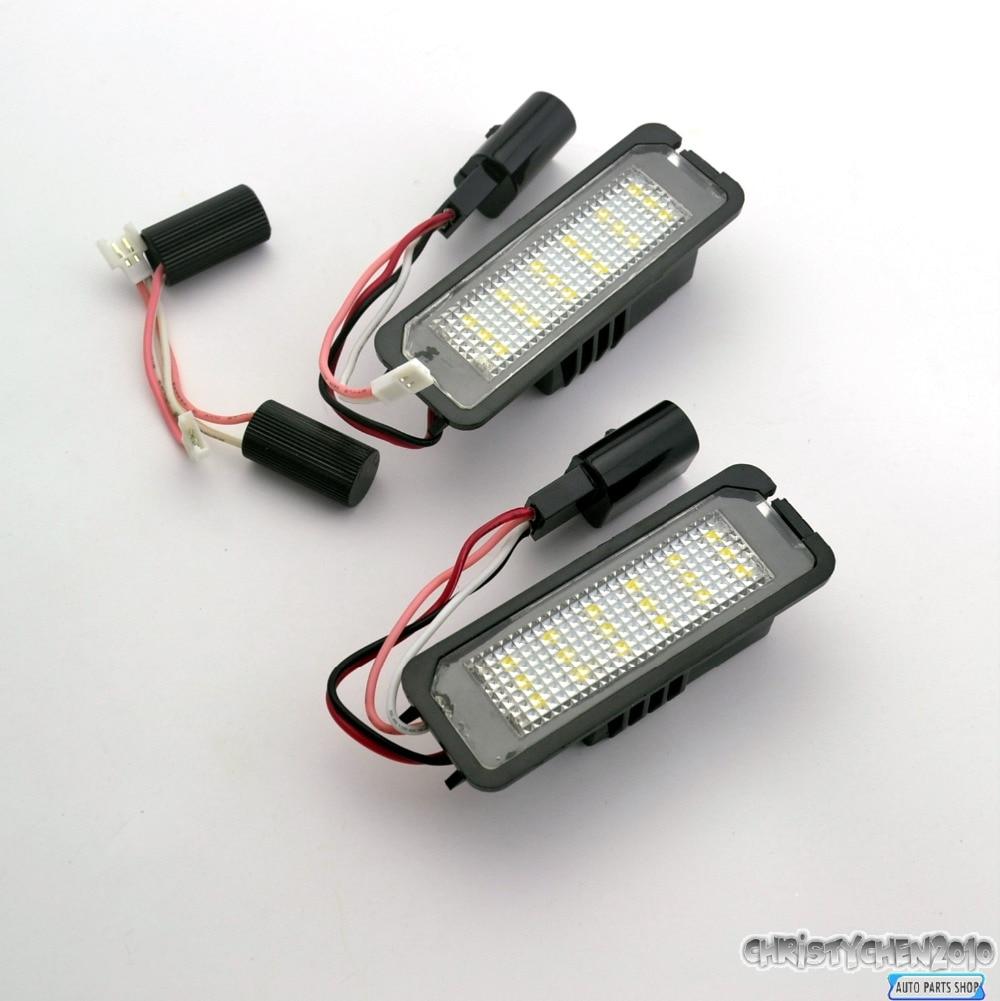 2PC Car License Number Plate LED Light For 2012 2014 VOLKSWAGEN VW GOLF / GTI MK7 Car License Plate Light 129<br><br>Aliexpress