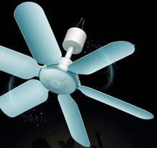 Dani Zhang 220V 7W Household Mute Mini Fan ceiling fan Energy Saving Fan ABS 6 blades Blue