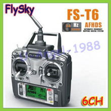 FS FlySky FS-T6 T6 2.4g Digital Proportional 6 Channel Transmitter and Receiver System W/ LED Screen