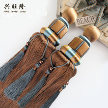 XWL 2 Pieces Curtain Tassel Tiebacks Ball Hanging Belts Bind Ropes Strap Fringe Tieback Curtain Clips Pendant Accessories Buckle(China)