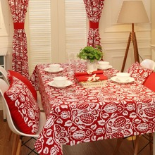 Festive Christmas New Year Linen Thick Pound Tablecloth Restaurant Living Wedding Villa Grass Square Coffee Table Cloth Cover