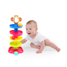 Popular Baby Toys Tower Puzzle Rolling Ball Bell Stackers Kids Toys Developmental Educational Toy Rolling Ball for Children(China)