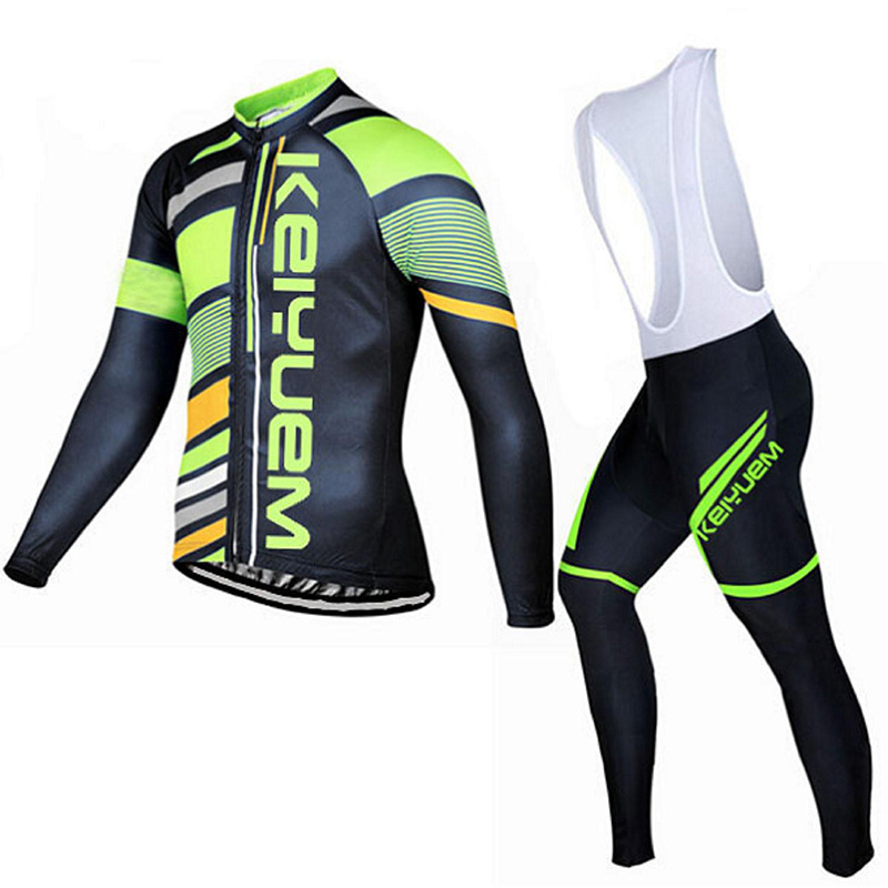 2016 Team Pro Winter Cycling Wear Suit Long Sleeve Bicycle Cycling Jersey Thermal Fleece Bibs Pants Set  Ropa Ciclismo Invierno<br>
