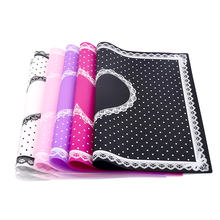 1 Pcs Silicone Foldable Nail Art Table Mat Pad Cute Dot Lace Design Washable Beauty Care Salon Equipment Manicure Tools(China)