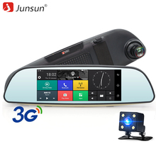 "Junsun 6.86"" Car DVR 3G Rearview Mirror Dual Lens Recorder Camera Full HD 1080P Dash Cam Android 5.0 GPS Registrar Navigation(China)"