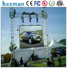 Leeman 6X3m Outdoor full color P12 RGB led stage panel for advertisement rental video billboard