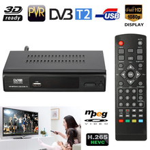 DVB-T2 HD Digital Satellite TV Receiver Set Top Box Video H.265 HEVC 1080P MPEG4 Dolby for Germany Italy England France EU PLug
