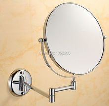 8 inch Wall Mounted Extending Folding Double Side 3x Magnification Mirror