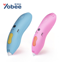 Yobee 3D Painting Pen Kids Learning Education Magic Children Drawing Toys DIY Designer Modeling Coloring Arts 3D Paint Pen Toy(China)