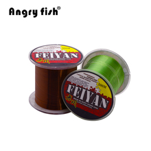 Angryfish Hot sell 500M Monofilament Series Super Strong Nylon Line 11 Colors Fishing Line 12 Colors(China)
