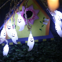 Funny Cute Halloween PVC Toy Ghost Light Popular Light Up Toys for Kids 20pcs LED Spirit Design Strip Lightning Toys