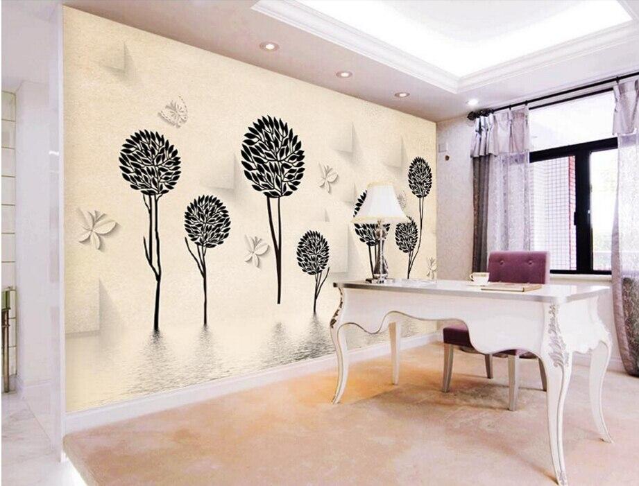 Custom papel DE parede 3 d, Abstract tree,3D stereoscopic wallpaper for living room backdrop bedroom embossed wallpaper<br>