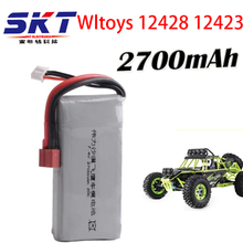 2017 SKT New Arrived  Rc Lipo Battery 2S 7.4V 2700mah 20C Max 30C for Wltoys 12428 12423 1:12 RC Car Spare parts Free shipping