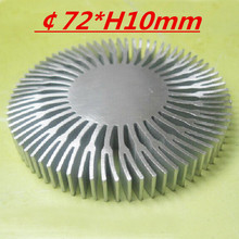 2pcs/lot  LED heatsink ,Diameter :72mm  H:10mm,aluminum heat sink , LED cooler  ,LED radiator