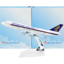 Singapore Airline Boeing 747  16cm model airplane kits child Birthday gift plane models toys  Christmas gift