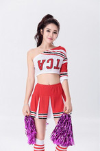 S-XXL Baseball Team Cheerleading Uniforms Cheerleading Glee Cheerleader Costume Aerobics Clothing Top with Skirt Set Sport Suits