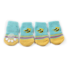 Armi store Banana Pattern Braided Wire Dog Sock Latex Skid-Proof Warm Socks For Dogs 6081047 Pet Clothing Shoes Accessories