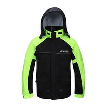 High Quality Professional Outdoor Raincoat Hidden Rainhat Thicker Mesh Lining Safety Reflective Tape Design Super Rainsuit