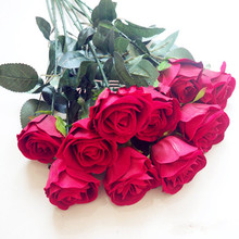 Single valentine rose 5 artificial flower artificial flower wedding bouquet decoration