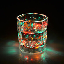 Colorful Flashing Led Light cup Creative  Wine Water Drink Glass Flash Cup Glow Light Flashing Cups Glasses For wedding party