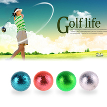 4pcs Double Layer Colorful Golf Practice Training Ball Golf Gift Ball Indoor Outdoor Sports Practice Training Balls