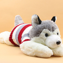 Free shipping 2017 Hot Sale 50cm Huskies Plush Funny Lovely Soft Dogs Toy Best For Kids HT2063(China)
