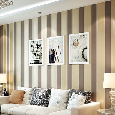 beibehang  Modern fashion Luxury Vertical stripes wallpapers Glitter wallpaper Roll Home Decoration silver Coffee Grey Golden<br>