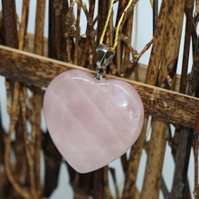 Free shipping 2pcs rose pink quartz crystal stone charms heart pendants gift hot sale fashion diy jewelry making 4 sizes B1834