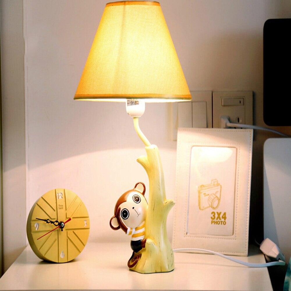 High quality Children Room Meng Monkey Kids Table Lamp E14 110V-220V Switch Button Modern Led Desk Lamp Light Study Lamps<br><br>Aliexpress