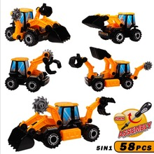 Baby Truck loader Car Toy Vehicles Assembly construction vehicles Classic Truck Toys Children Gifts educational juguetes