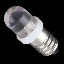 2017 Top Quality Low power consumption E10 LED Screw Base Indicator Bulb Cold White 6V DC Light Bulb Worldwide Sale