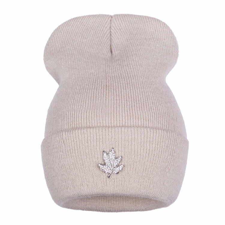 Ralferty Casual Crystal Leaf Beanie Winter Hats For Women Skullies Caps Female Chapeu Toca bonne gorras bonnet Cap Men Snowboard 2