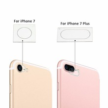 9H Clear Tempered Glass Film Camera Lens Protector Skin For iPhone 7 / 7 Plus