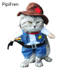 PipiFren Cat Custome Cowboy Doctor Sailor Soldier Cosplay Dress Dressing Up Uniform Clothes Funny Outfit for Holidays Party