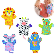 Cute Cartoon Animal Finger Puppet Soft Plush Baby Hand Puppet Baby Boys Girls Teasing Toys Pretend Playing Doll Christmas Gift