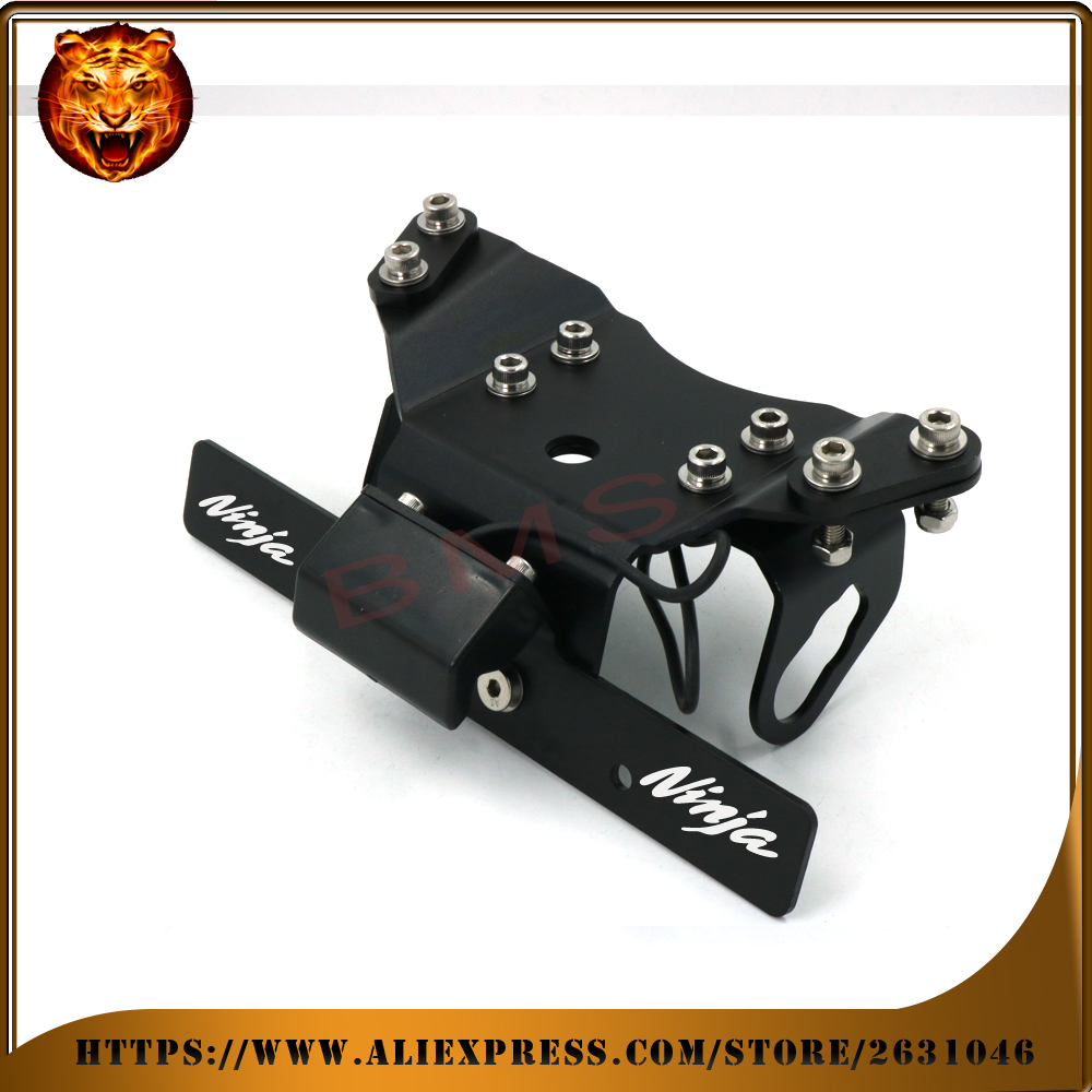 Motorcycle Fender Registration License Plate mount TailLight LED Holder Bracket For KAWASAKI NINJA 650R 400R  free shipping new<br>