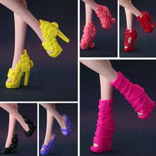 2017 New Colorful Accessories Original shoes for monster high doll fashion Umbrella shape shoes 15 style shoes available(China)