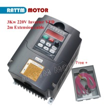 EU Delivery!! 3KW VFD Variable Frequency 220V Drive VFD Inverter 4HP output 3 Phase 13A