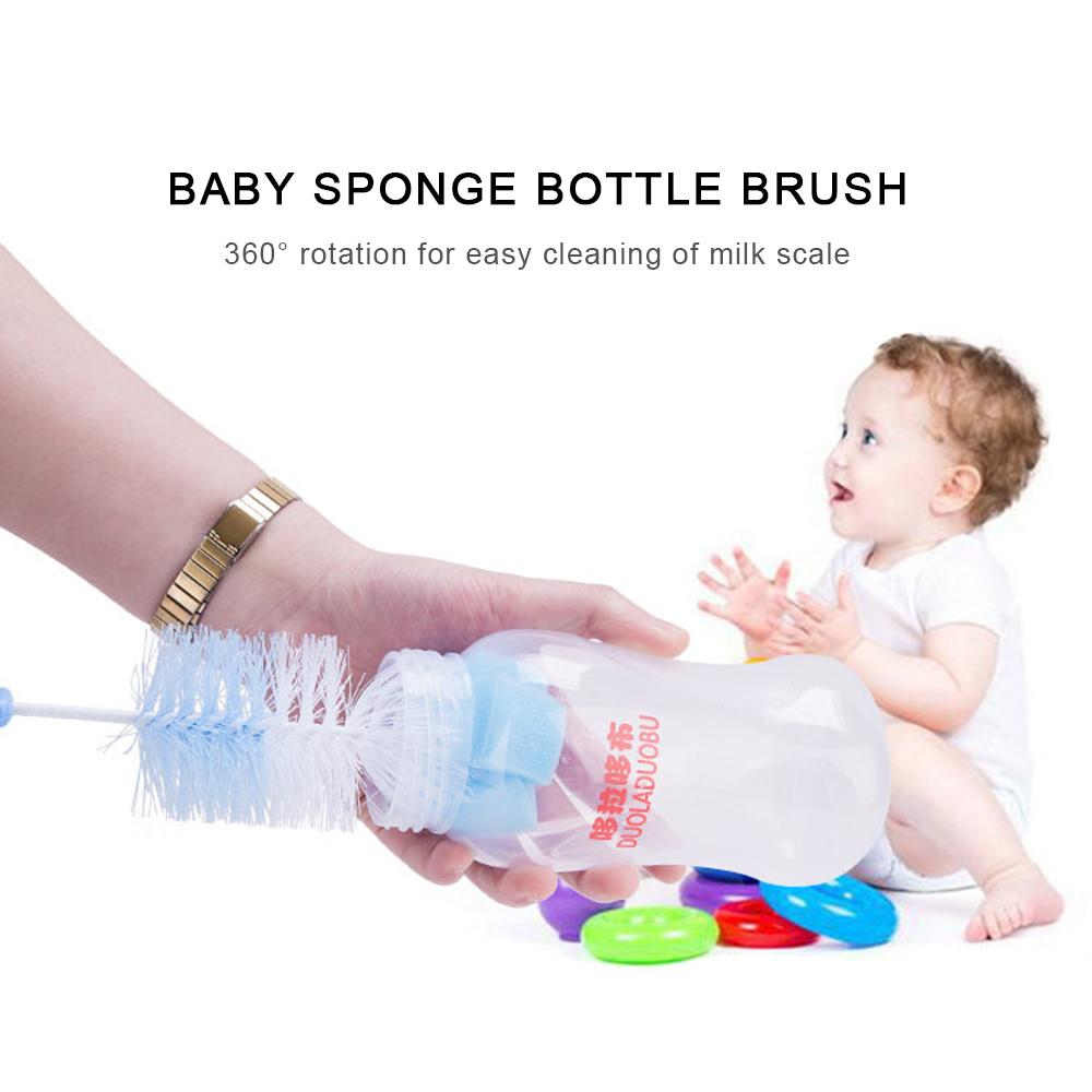 biberones o pezones 5 cepillos para biberones con esponja para girar para reci/én nacidos herramienta de limpieza