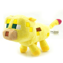 Minecraft Toys JJ Creeper Dolls Stuffed Plush Toys Minecraft Ocelot Plush Toys Yellow 24CM Children Brinquedos Christmas Gifts