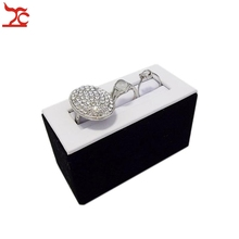 Fine Jewelry Display Promotion Multi Use Couple Ring Holder Bracelet Display Stand Case in White PU with Black Velvet