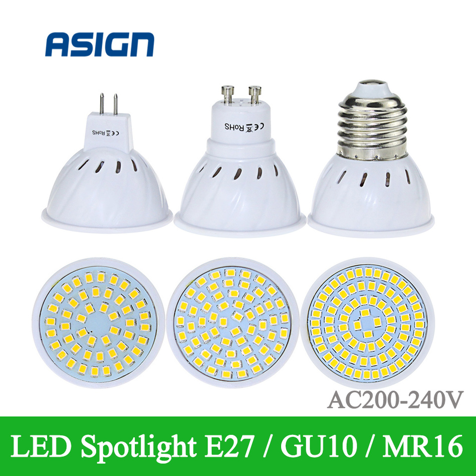 E27 GU10 MR16 LED Spotlight AC220V LED Bulb Lamp Warm / Cool White high power lamp 48led 60led 80led LED COB Spotlight<br><br>Aliexpress