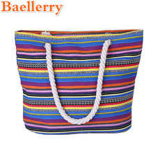 Baellerry 2017 New Summer Women Canvas Floral Printing Shoulder Beach Bags Female Casual Tote Shopping Big Bag Messenger Bags