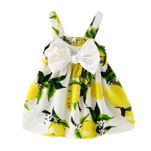 Baby Girls Kids Summer Dress Cloth Infant Bow Sleeveless Toddler Girls Birthday Party Dresses Baby Clothing Vestido