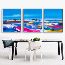 Abstract Watercolor Painting Cotton Canvas Painting Seascape Picture Photo Wall Prints Home Decor Poster no Frame Decoration