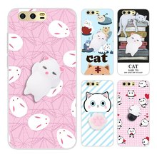 Anti Stress Squishy 3D Gel For Huawei P8 P9 P10 Lite 2017 Case Cute Cat Claw Kitty Cover For Honor 9 8 Pro V9 Soft Phone Cases