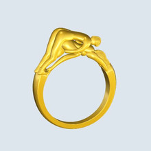 Atlantic to restore ancient ways jewelry ring the three-dimensional erotic male and female sex ring couples wedding gift(China)