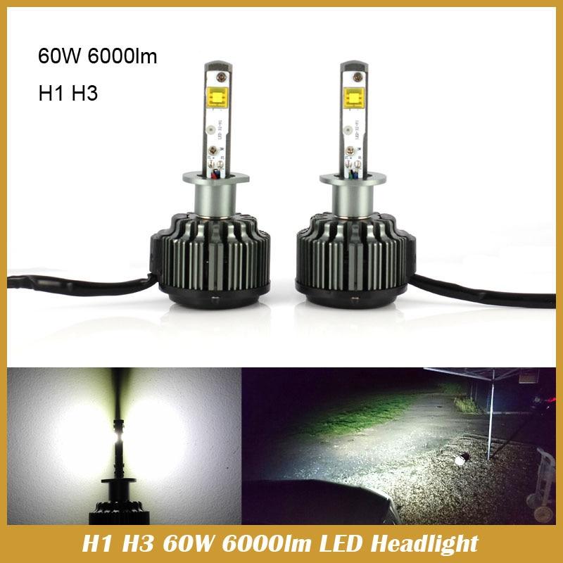 H1 LED car headlight 60W 6000LM Xenon White DRL Parking Fog Head Lamp Light 6000K Bulb For Car Styling<br><br>Aliexpress