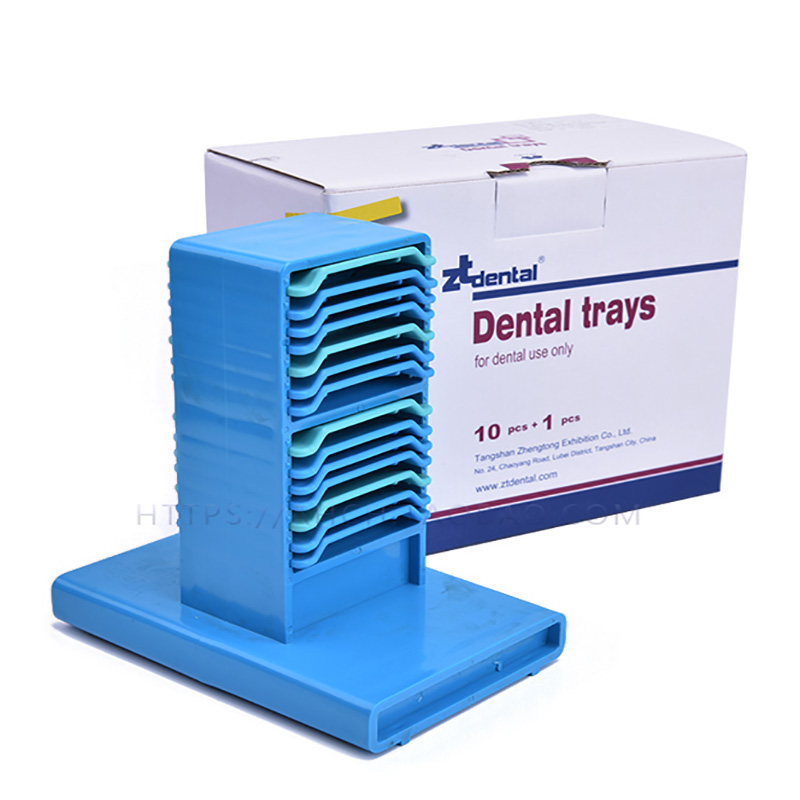 DR.PERFECT Plastic Impression Tray Bite Denture Instrument Holder Dental Products Supply Impression Trays Denture Tray<br>